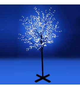 GBK Beautiful 250cm 800L steady burning LED tree light with white plum blossoms and leaves for Christmas and other holiday decorations