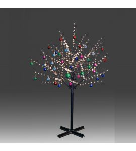 Beautiful 200cm 504L twinkle burning LED tree light with golden plum blossoms and hanging ornament set