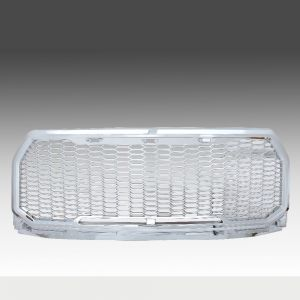 2015-2016 Ford F150 chrome plated polished Mesh Grille Shell, Complete Factory Replacement Grille Shell