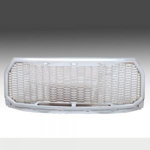 2015-2016 Ford F150 Chrome Plated Matte Mesh Grille Shell, Complete Factory Replacement Grille Shell