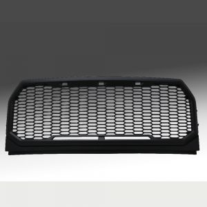 2015-2016 Ford F150 Matte Black Mesh Grille Shell, Complete Factory Replacement Grille Shell