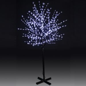 250cm 600L LED Steady Burning Tree Lighting White Maple Leaves