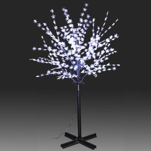 200cm 378L LED Steady Burning Tree Lighting White Maple Leaves