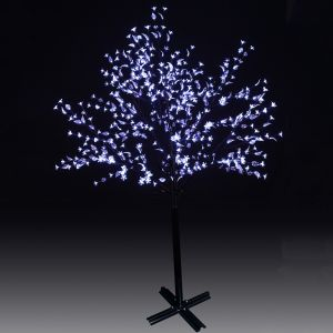GBK Beautiful 200cm 504L steady burning LED tree light with white plum blossoms and leaves for Christmas and other holiday decorations