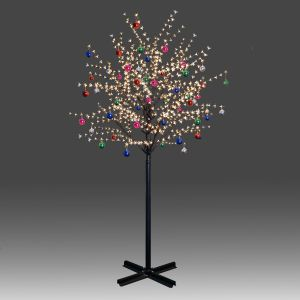 Beautiful 250cm 800L twinkle burning LED tree light with golden plum blossoms and hanging ornament set