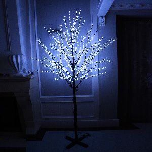 GBK Beautiful 250cm 720L steady burning LED tree light with white plum blossoms and leaves for Christmas and other holiday decorations